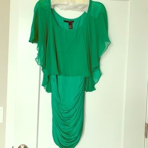 Unusual emerald dress